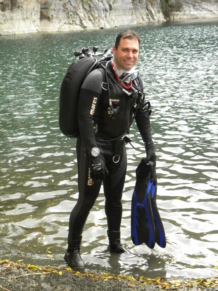 (Foto: Arquivo Pessoal) Sgto. Nogueira dará o curso de mergulho na APMDFESP