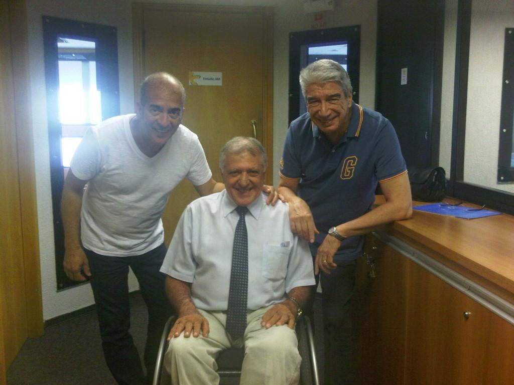 Elcio inocente, presidente da APMDFESP, ao lado de Décio Piccinini e Figueiredo Jr.