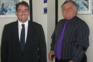 Fernando Capano (da Capano, Passafaro Advogados Associados) e Romildo Pytel (diretor jurídico da APMDFESP)