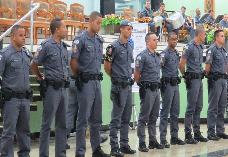(Fotos: Divulgação/APMDFESP) Alguns dos Policiais Militares que foram homenageados durante a cerimônia