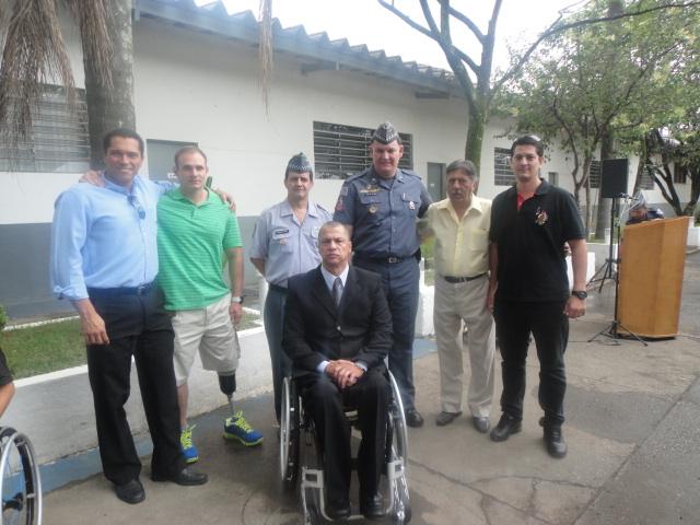 Álvaro Neves, Cabo PM André Roberts, Tenente-Coronel REis (Chefe de Estado Maior do CPAM-5), Tenente-Coronel Érico (comandante do 16º BPMM), Walter Mathias e Wagner Mathias
