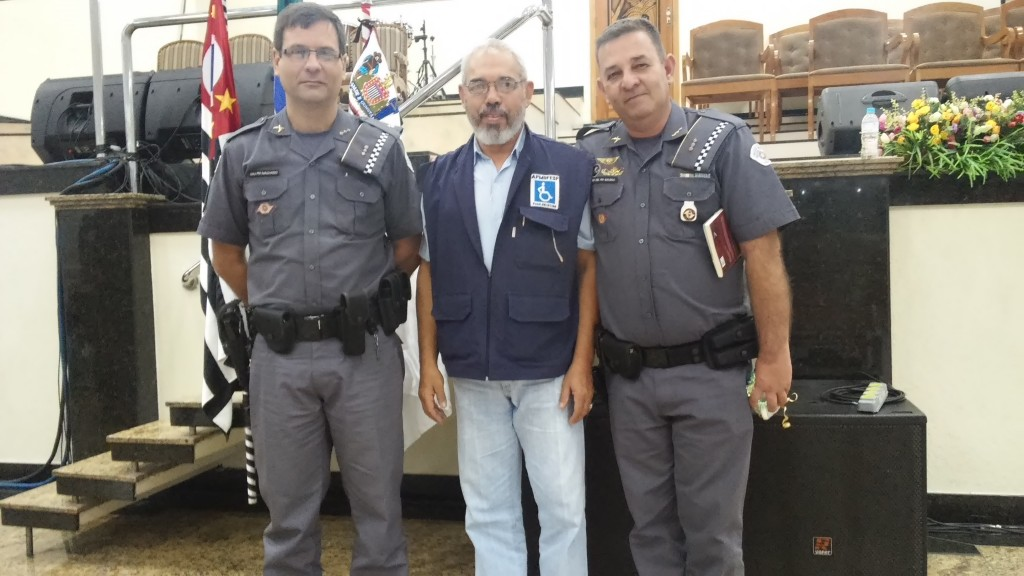 Major PM Machado, Edson Pimenta e Tenente-Coronel PM Galindo