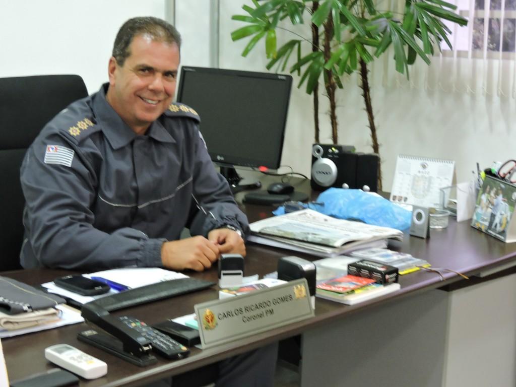 Coronel PM Carlos Ricardo Gomes: orgulho em comandar a ESSd,  que treina os Soldados