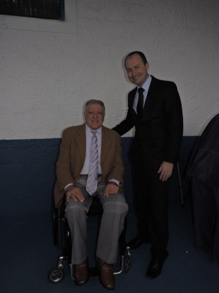 Elcio Inocente e Edvar Boechat Soares (pró-reitor administrativo da FIG-UNIMESP)