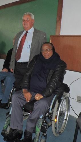 Mario Zan Castro Correa (diretor do interior, regionais e representações da APMDFESP) e Claudinei Guimarães Simoes