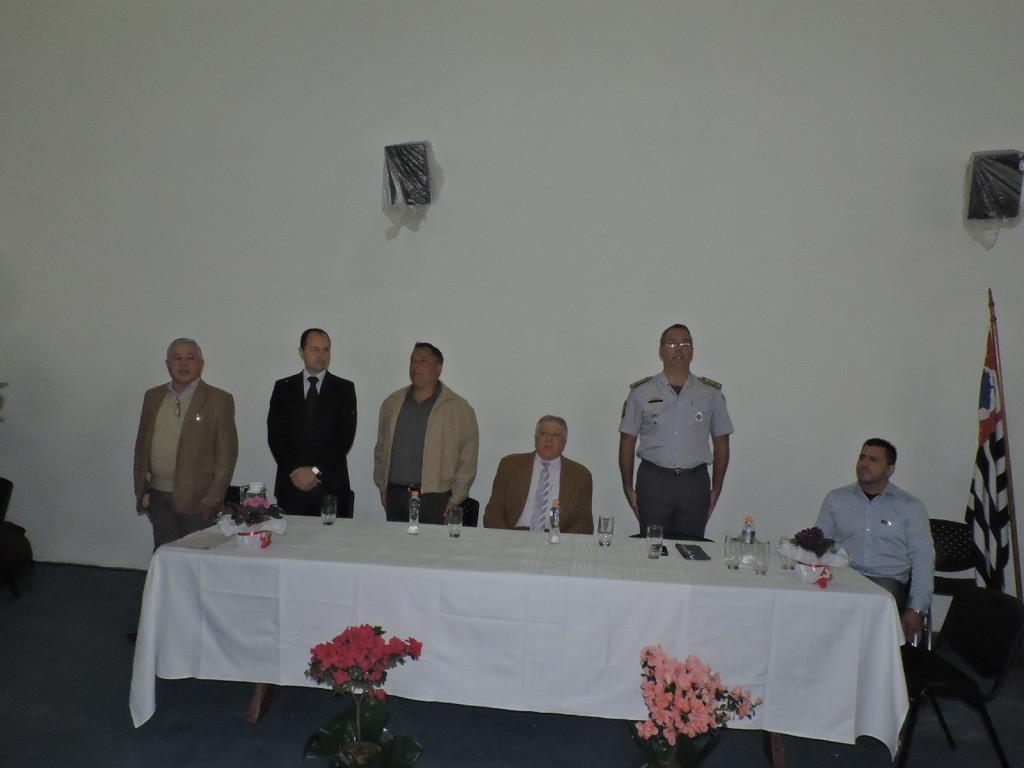 Eduardo Inocêncio, Professor Edvar, Coronel Cauzzo, Elcio Inocente, Coronel PM Sardilli e  Toninho Messias durante evento