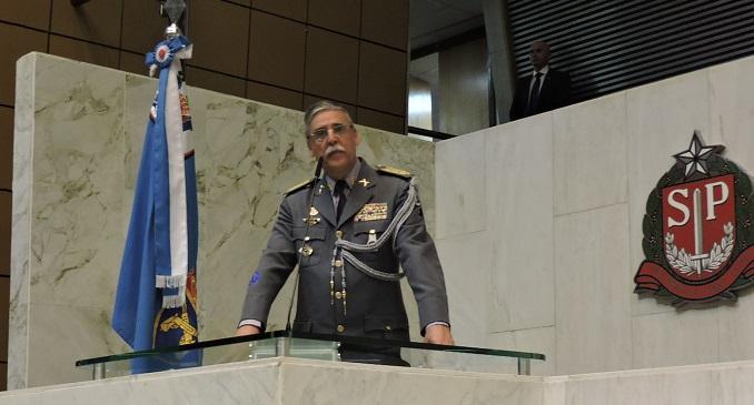 Coronel PM Mesquita discursou na sessão solene