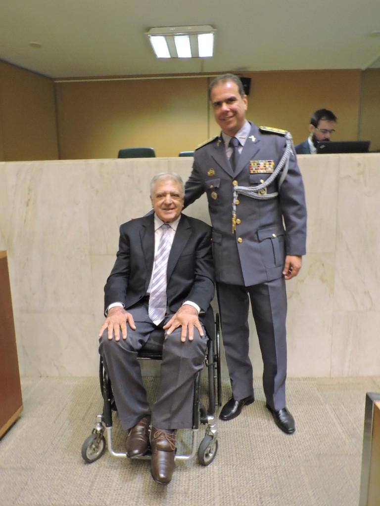 Coronel PM Carlos Ricardo Gomes: também prestigiou o evento